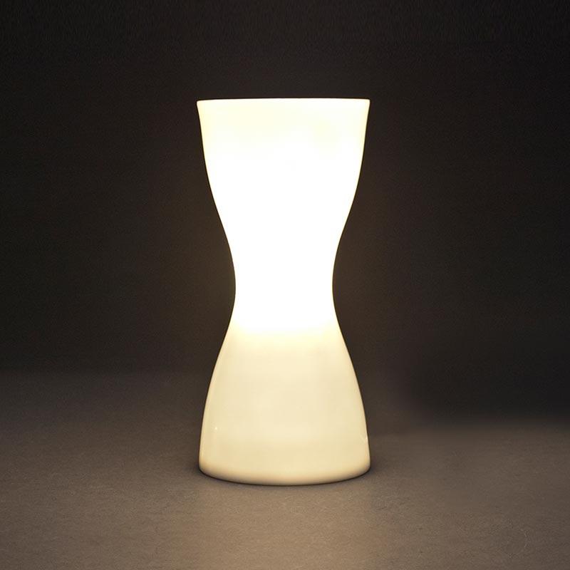primer plano, lámpara encendida