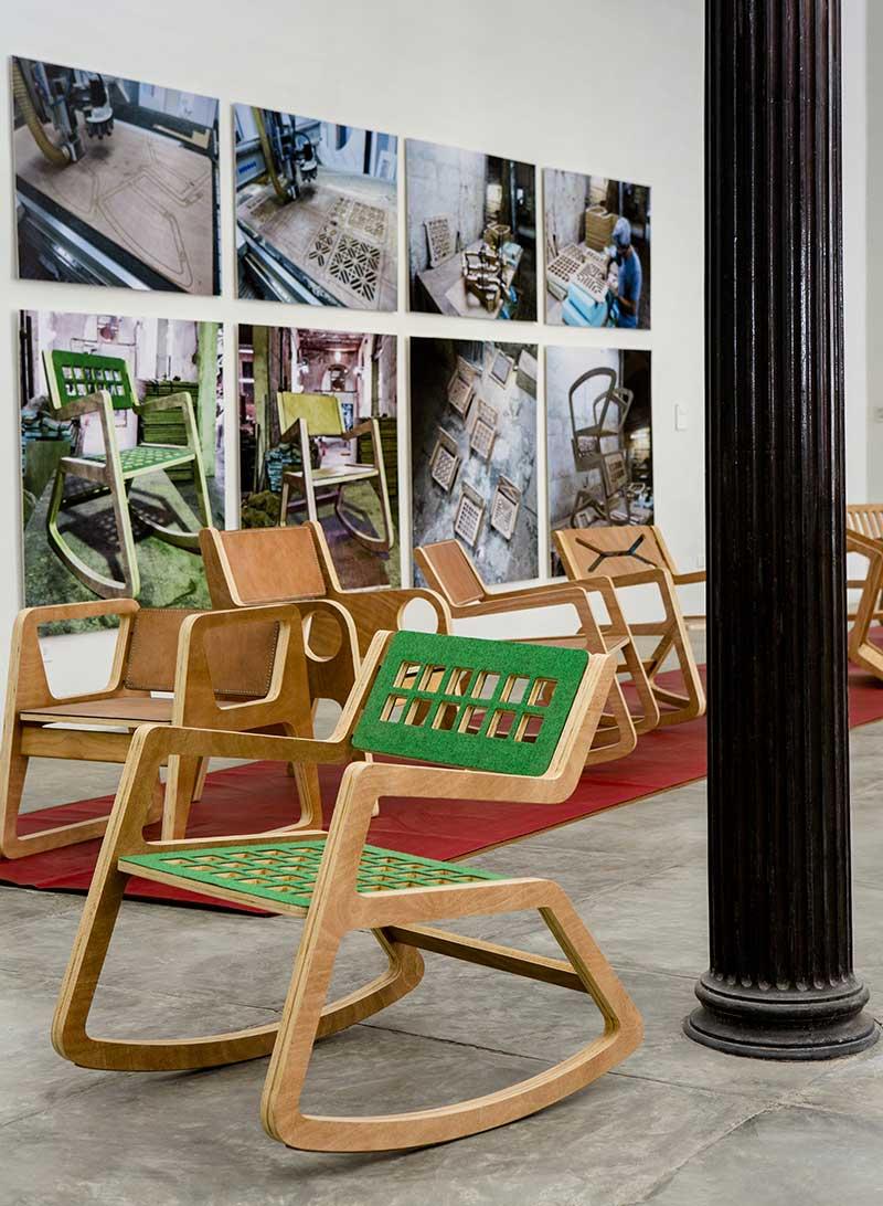 Mecedoras Rita en la Expo Convergencias, en Factoría Habana