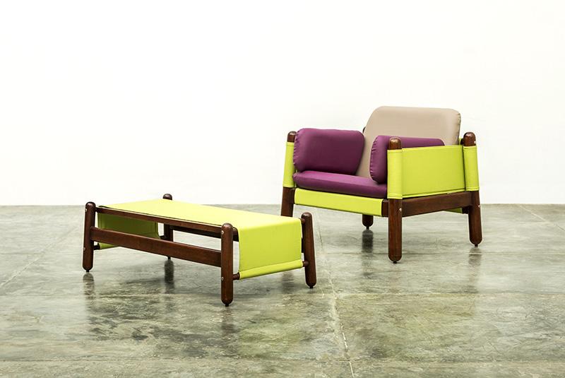 Butaca y mesa del Conjunto Happy Diseño Luis Ramírez